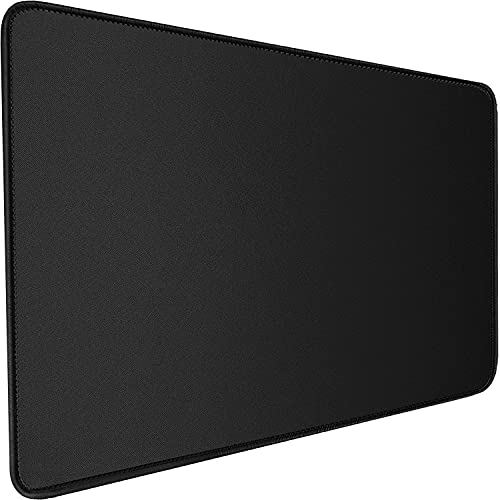 Gaming Mouse Pad, 31.5x15.7x0.12 inch Large Extended Computer Keyboard Mouse Mat, Water Resist Non-Slip Mousepad Rubber Base Long XXL Gaming Mouse Pad for Work & Gaming, Office & Home, Black