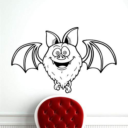 yaonuli Cartoon Fledermaus wandtattoo Tier Kindergarten Zoo Vinyl wandaufkleber Dekoration kinderzimmer Wohnzimmer Schlafzimmer Art Deco wandbild 136X85 cm