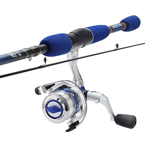 Hong Yi Fei-Shop Barra para Pesca Spinning Mar Polo caña y Carrete Combo Ultra Light Super Hard Banda caña de Pescar Gear Set (Azul) cañas de Pescar (Size : 2.1m)