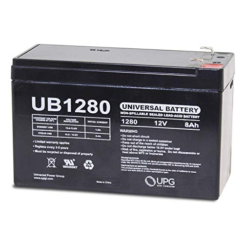 Universal Power Group 12V 8AH Replacement Battery for Garmin Fishfinder 90 GPS + 12v 1Amp Charger