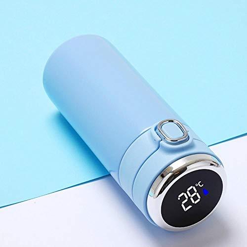 Jusemao Bpa Free Vacuum Insulation Kettle 400ml Intelligent Temperature Measurement Display Temperature-blue_400ml