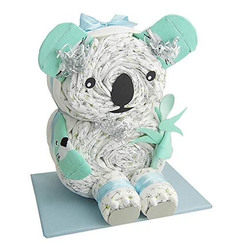 Windeltorte.com – Koala   Windeltorte in Blau - inkl. 26 LILLYDOO Windeln   Geschenk zur Geburt   Taufgeschenk   Geschenk zur Babyparty – handgefertigt