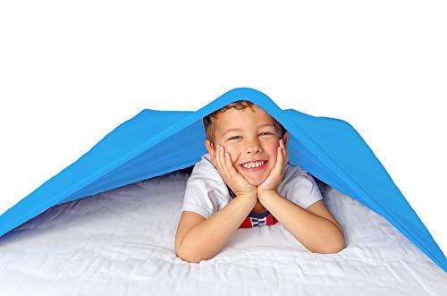 Hug Sheets-Sensory Compression Blanket, (Light Blue ) Twin Size Compression Sheets for Kids, Toddlers, and Adults-Best Alternative to Weighted Blankets, Cool, Stretchy, Breathable Sheets that Cuddle