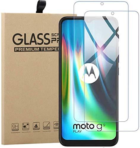 Preisvergleich Produktbild TLING 2 Stück Panzerglas für Motorola Moto G9 Play,  Gehärtetem Glas Schutzfolie für Motorola Moto G9 Play