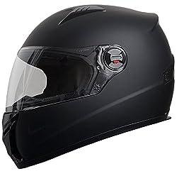 Integralhelm Helm Motorradhelm RALLOX 708 schwarz matt S M L XL Größe XL