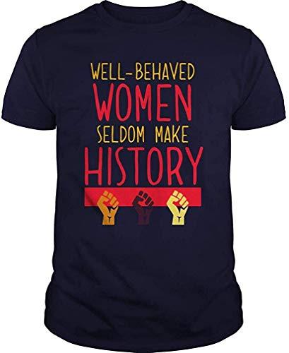 Harry wang Camiseta del Mes de la Historia de Las Mujeres para Mujeres Que no se comportan Bien 5XL