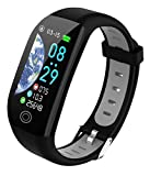 Fitness Tracker Smart Watch Sports Watch Bracelet 1.14 inch Color Screen IP68 Waterproof Step Calorie Counter Sleep Monitoring Pedometer Watches Activity Trackers for Women Men Kids