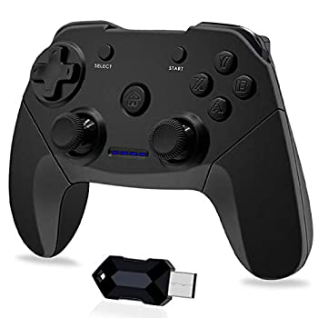 Wireless Game Controller for PC PS3 Android Phones Tablets TV Box Steam - 2.4G Remote Gamepad Joystick with Dual Vibration Plug and Play