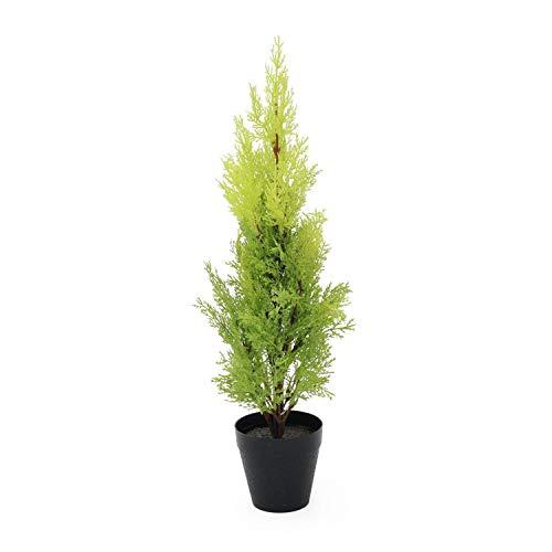 artplants.de Ciprés Artificial en Tiesto Decorativo, 60cm - Resistente a la Intemperie - Planta...
