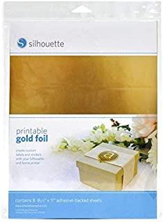 Silhouette Printable Adhesive Foil 8.5x11 8/Pkg-Gold