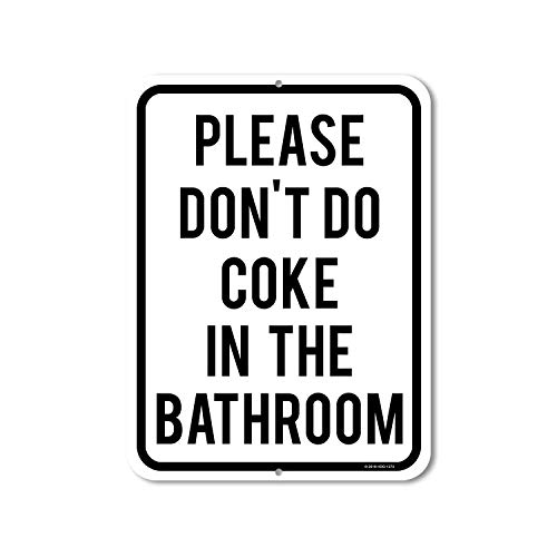 "Honey Dew Gifts Lustiges Schild mit Aufschrift ""Please Don't Do Coke in The Bath"", 22,9 x 30,5 cm, hergestellt in den USA"