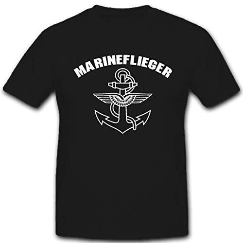Marineflieger Marine Bundesmarine Bundeswehr Bw - T Shirt #1611, Farbe:Schwarz, Größe:Herren XL
