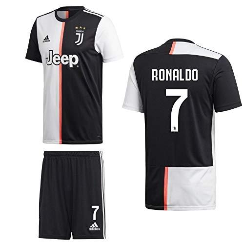 adidas Fußball Juventus Turin FC Home Kit 2019 2020 Heimset Kinder Ronaldo 7 Gr 140