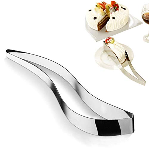Mochiglory Stainless Steel Cake Slicer Server, Cake Pie and Pastry Sheet Guide Cutter Slicer Knife Cake Lifter Wedding Party Kitchen Tool
