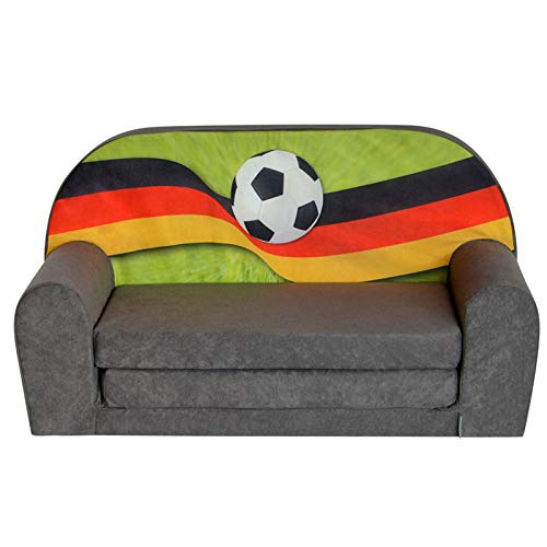 FORTISLINE Kindersofa Mini zum Aufklappen FANZONE Football DE W386_17