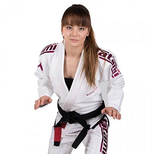 Tatami Fightwear - Kimono Estilo BJJ, bianco e rosa, F3