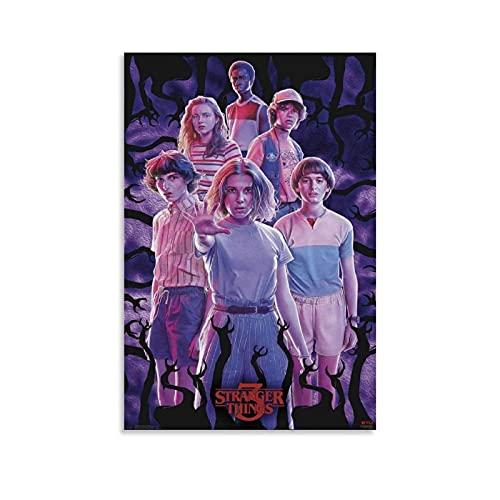 QIFJ Stranger Things Season 3 - Poster artistico da parete, stampa artistica da parete, 20 x 30 cm