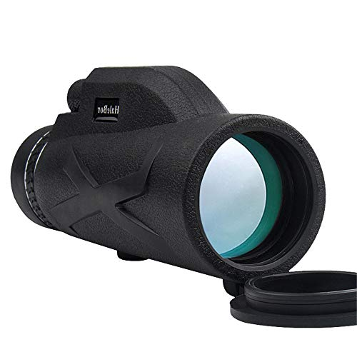 DIYARTS 80×100 High Definition Monoculars Scope Waterproof Mono Telescope Optical Prism Wide View Camping Hunting Monocular with Rubber Cover (monoculars)