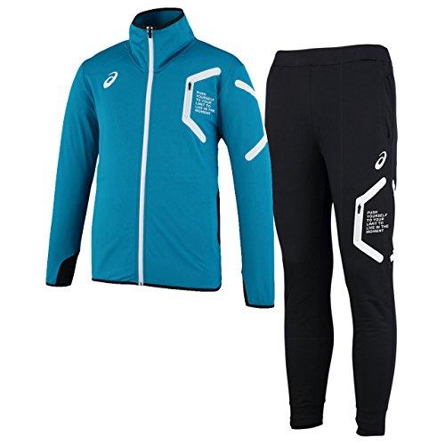 アシックス(asics) トレーニングジャケット&トレーニングパンツ 上下セット(ターキッシュタイル/ブラック...