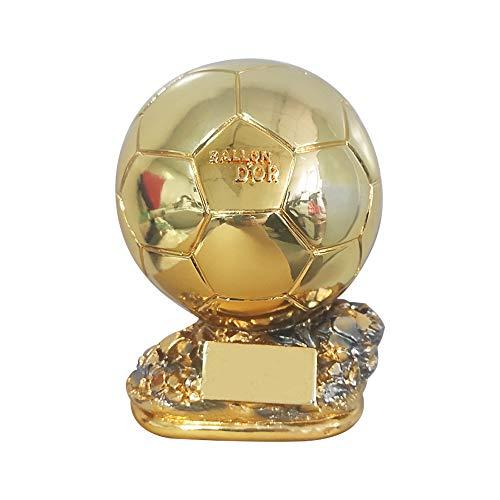 MRCOIN Ballon D'Or Réplica de Trofeo de Francia Fútbol Mejor Jugador de Resina Oro Copa de Balón de Fútbol Regalos (6 pulgadas personalización)