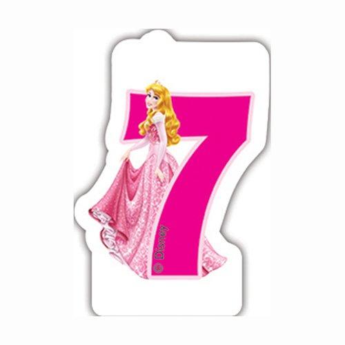 Disney Princesse et Animaux Bougie d'anniversaire 7e