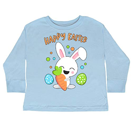 inktastic Happy Easter Bunny Toddler Long Sleeve T-Shirt 4T Light Blue 3a4bf