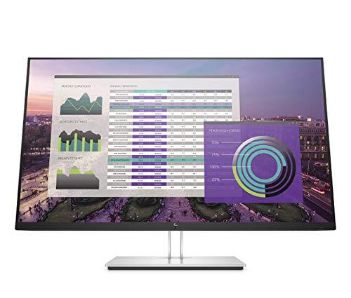 HP - PC EliteDisplay E324q Monitor con Attacco VESA, Schermo 32' Antiriflesso QHD, Regolabile Altezza e Inclinazione, Pivoting 90°, Comandi Integrati, HDMI, USB-C, DisplayPort, Argento