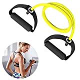 Iwinna Exercise Resistance Bands,Elastic Work out Band and Resistance Loop Bands with Handle for Men/Women, Workout Bands for Arm Legs and Glutes,1.2m Home Gym Equipment Stretch Fitness Bands