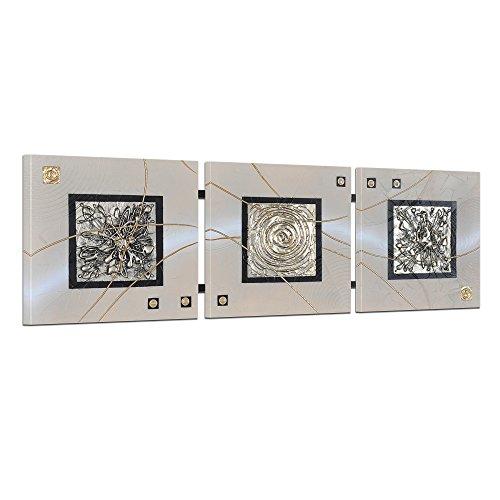 Bilderdepot24 Wandbild - Abstrakte Kunst - handgemaltes Wandbild 3D Struktur 104x33cm 1 teilig TR8