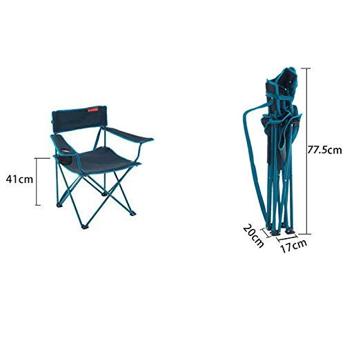 MJY Decathlon Outdoor Klappstuhl, Camping Barbecue Sketch Tragbarer Stuhl, Zwei Farben Optional,B,