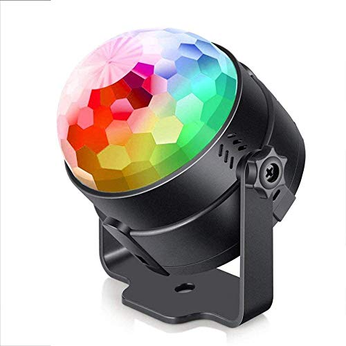 Disco Lights Sound Activated LED Disco Ball Lights with 7 colors Sound activated remote control Party Lights for Kids Birthday Home Party Bedroom Decoration Perfect