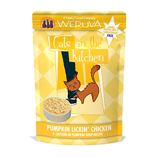 Weruva Cats in the Kitchen Grain-Free Natural Wet Cat Food Pouches, Pumpkin Lickin' Chicken, 3-Ounce Pouch (Pack of 12)