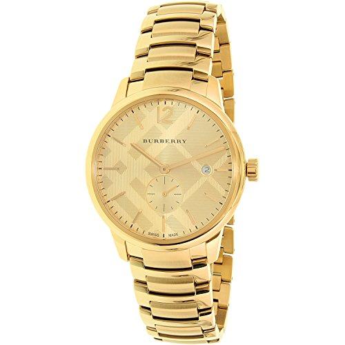 Burberry Herren-Armbanduhr BU10006, Edelstahl, ionenplattiert, 40 mm, goldfarben