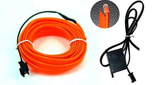 Ambiente EL Bandes lumineuses fluo Éclairage d'intérieur sans LED Orange 1 m