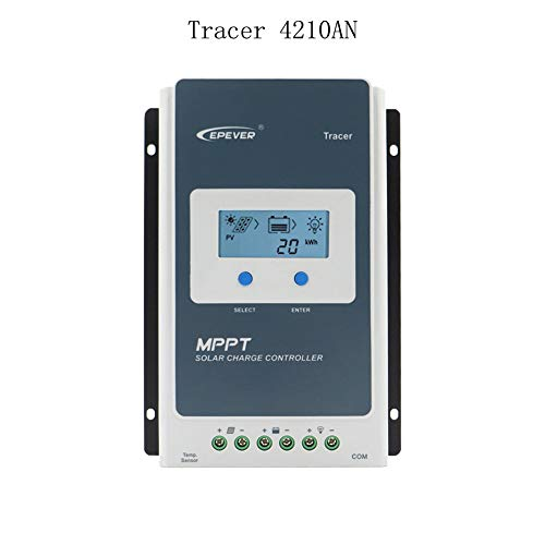 EPEVER 40A MPPT Solar Charge Controller Tracer4210A Solar Panel Regulator with LCD Display 12V/24V Auto Work 100V Max PV 520W/1040W Max. PV Input Power (40A, Tracer4210A)