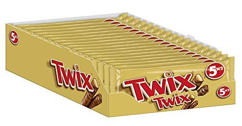 Twix Schokoriegel | Keks, Karamell | Jeweils 5 Riegel in 18 Packungen (18 x 250 g)