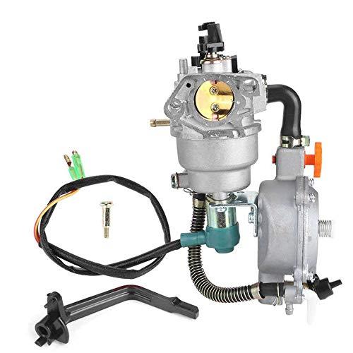 Accesorios Para Cortacéspedes GLP GNC Generador de doble combustible del carburador Compatible con GX390 188F Manual Choke Accesorios 4.5 Piezas de repuesto □ 5.5KW Cortacésped Accesorios para herrami