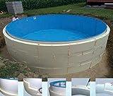 SummerFun - Revestimiento para Piscinas Redondas (sin hormigón, 4,60 x 1,20 m)