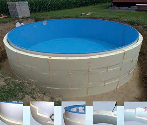 Summer Fun Beckenverschalung (kein Beton notwendig) für Rundpools mit schmalem Handlauf 3,50m x 1,20m