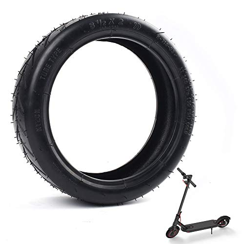 LotFancy 8 1/2 x 2 Pneumatic Tire Fit for Xiaomi Mijia M365 Electric Scooter, 8.5 Inches Front/Rear Scooter Tire Solid Replacement