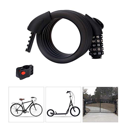SGSG Bike Lock Combination 4 Digit,Anti-Theft Locks with Mounting Bracket High Security Heavy Duty Bicycle Bike Lock,Security Burglar Best for Outdoor Bike and Gate Fence Garage