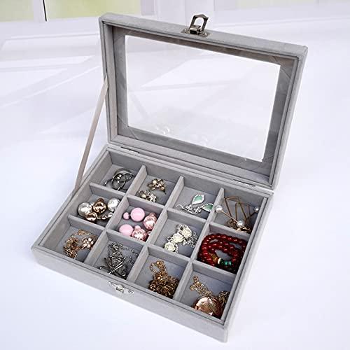 Caja de joyería de terciopelo portátil de moda para joyería anillo organizador de joyas, bandeja para pendientes, caja de almacenamiento para joyas (color: A3)