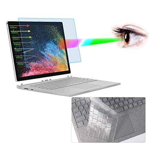 Surface Book 2 15' Screen Protector, Anti Blue Light Screen Protector with Keyboard Cover for Microsoft Surface Book 2 15' Laptop Anti Blue Light Glare Screen Filter Eye Protection Screen Protector