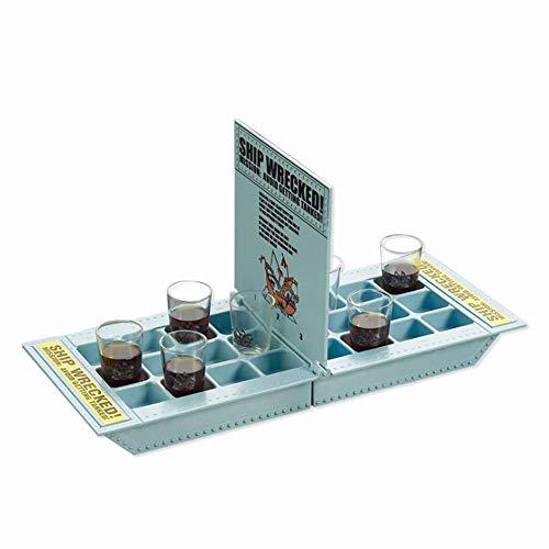 NANG YE Creativos Juegos de Mesa de Vino de Barco Pirata, Juegos para Beber para Adultos, Juegos de Mesa para Adultos, Juegos para Beber, Muy adecuados para Fiestas y Noches de Juegos.-Azul
