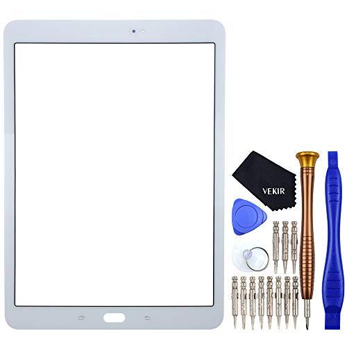 VEKIR Blanco SM-T820 Reparación de Cristales de Pantalla reemplazo Compatible con Samsung Galaxy Tab S3 9.7