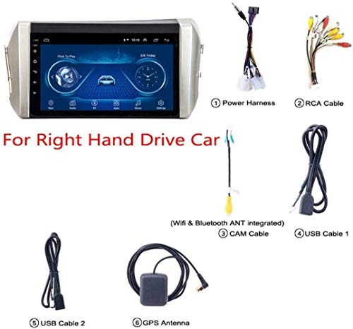 YDD 9 Zoll Android 8.1 Auto DVD GPS Navigation Für Toyota Innova 2015-2018 Mit Bluetooth/TV/WiFi/USB/Radio/Video, Unterstützt Mehrere Audio-Format,Option 2