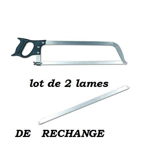 LOT DE 2 Lame De Rechange pour la Scie De Boucher 46 Cm - Pradel Excellence