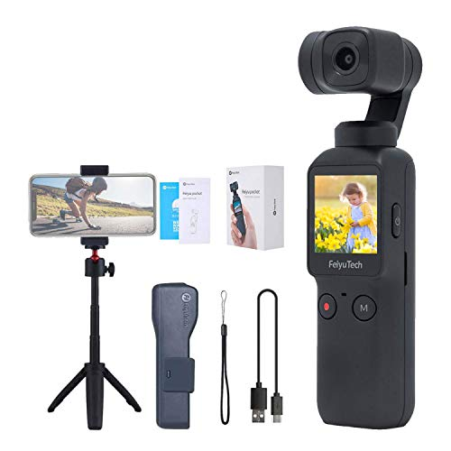 Feiyu Pocket Hanheld Gimbal Camera Stabilizer 4K HD Camera Stabilizer Hyperlapse Motion Time-Lapse Panorama 8X Slow Motion Video Vlogger Gimbal