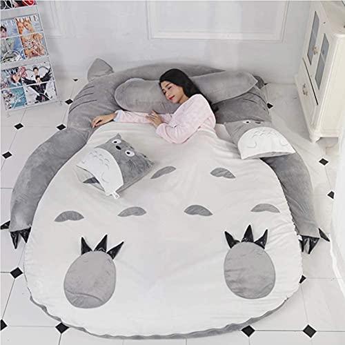GQFGYYL Totoro Colchoneta para Cama Espesar Tatami Colchoneta Ideal para Dormitorio o Dormitorio, Colchón Totoro Individual Doble Tatami,002,130 * 200cm