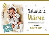 Hollert German Leather Fashion Baby Lammfell Merino Schaffell waschbar ökologisch medizinisch gegerbt (Relugan) Bettdecke Bettauflage Unterbett Fellteppich 90-100 cm